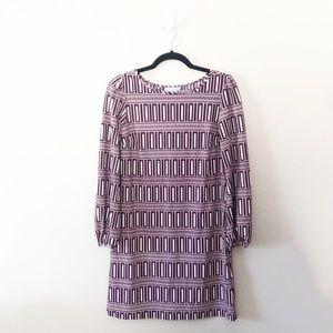 Jude Connally Geometric Print Dress Sleeves